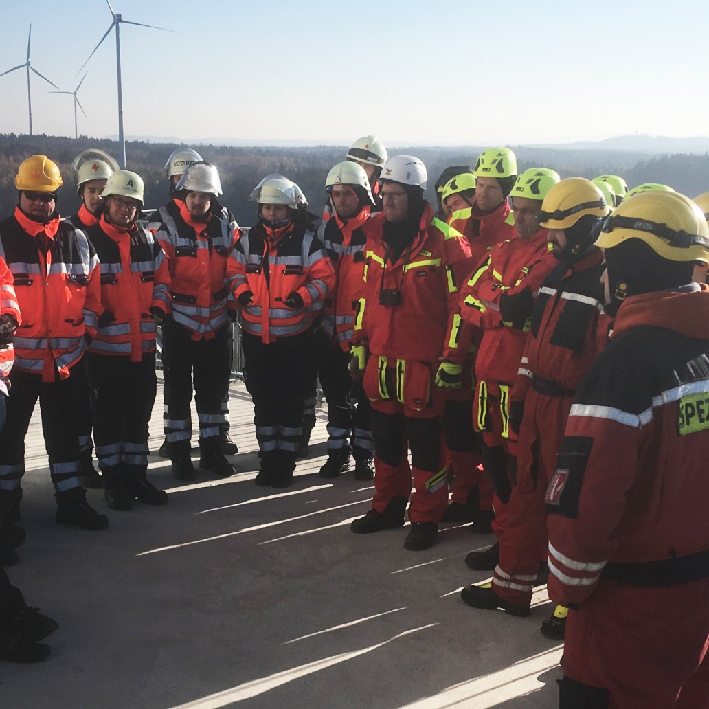 Height rescue training - news, Max Bögl Wind AG