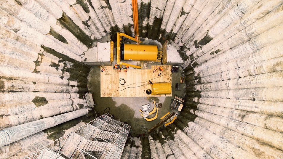 Tunnelbohrer Wasserbatterie