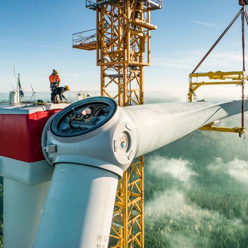 Hybridturm I Gesamtanlagenmontage