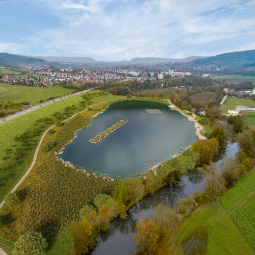 Wasserbatterie I Gaildorf Ausblick 2019 Unterbecken